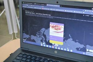 Photo of computer screen showing Virtual Recipe Book