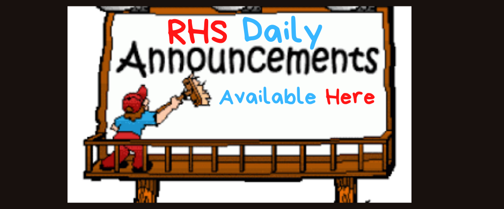 RHS Daily Announcements