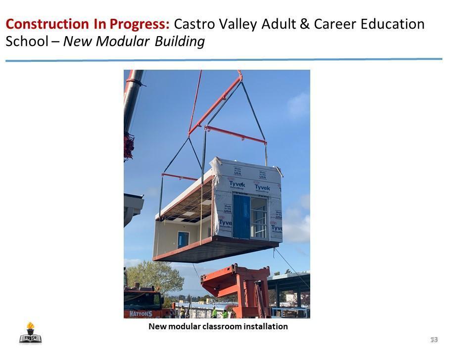 CVACE - New Modular Classroom Installation