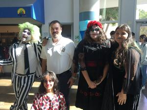 Village Academy's Halloween dance is tonight Oct. 25th! Watch out for all the ghouls and goblins! (...and admins too!) #proud2bePUSD #VillageAcademy