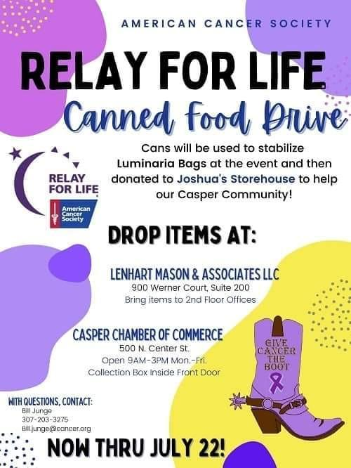 Relay for Life Canned Food Drive