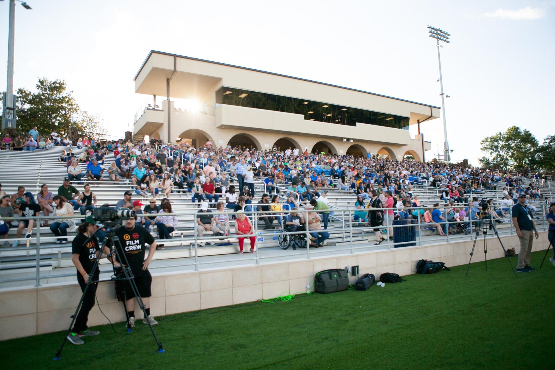 crowd at Grand Opening of the Tomato Bowl