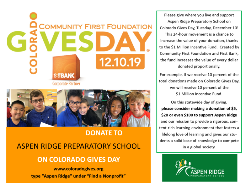 Flyer for Colorado Gives Day