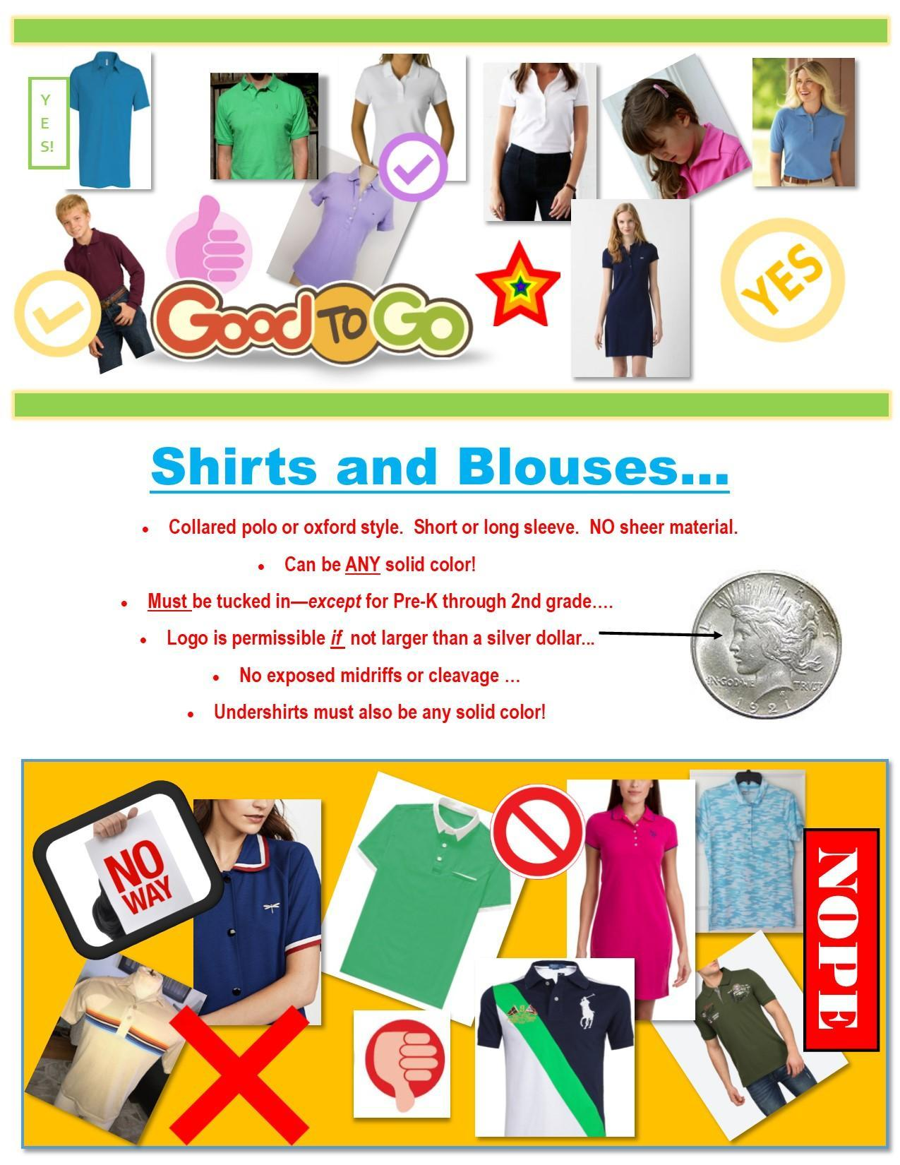 shirts and dresses flyer for dress code