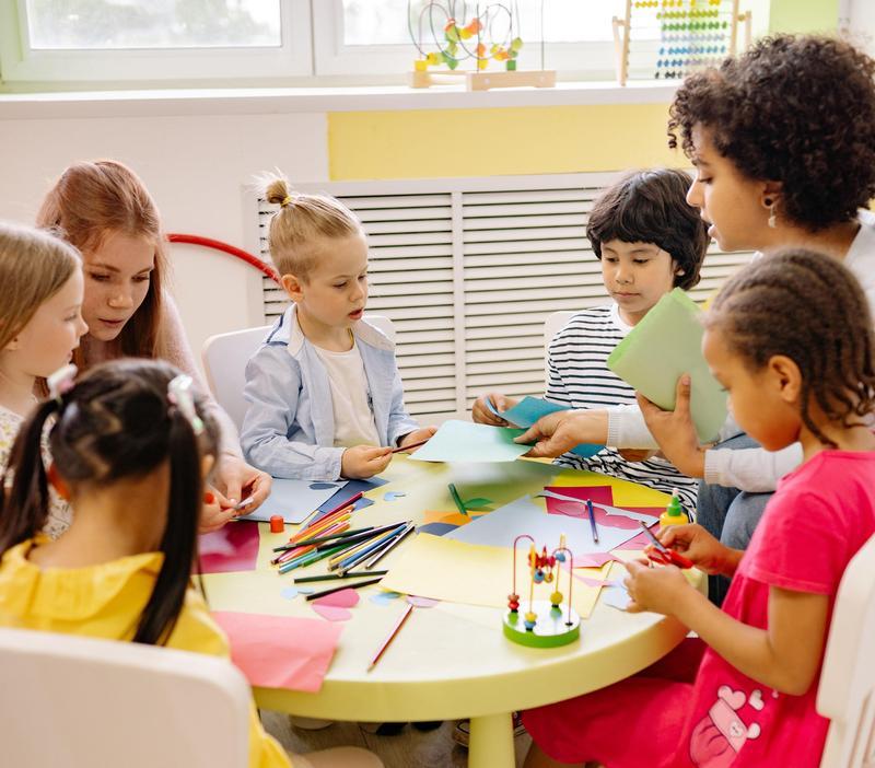 preschool children at table