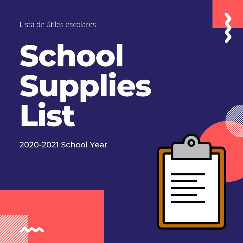 School Supplies List Graphic