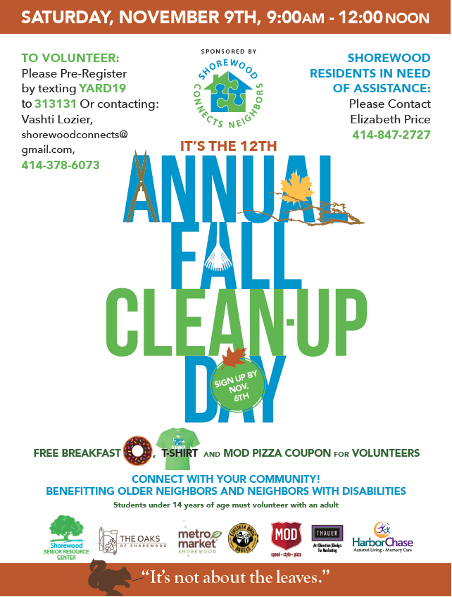 Fall yard Clean up poster