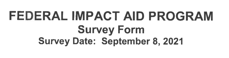 Federal Impact Aid Survey Featured Photo