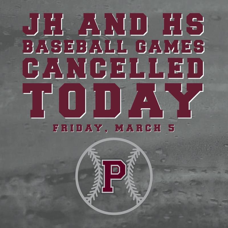 games canceled