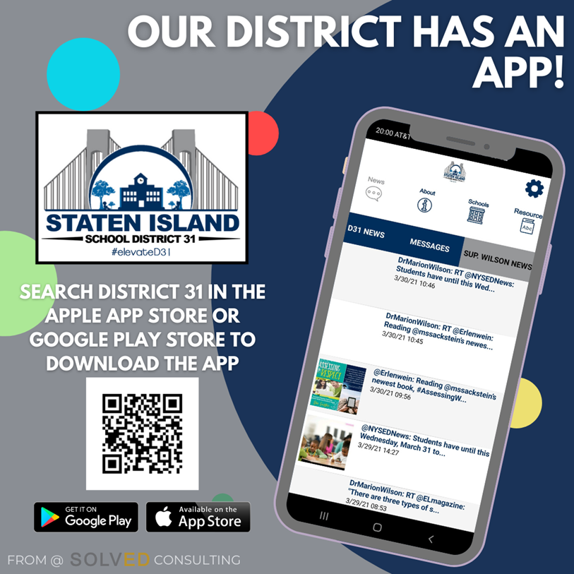 scan to download District 31 app