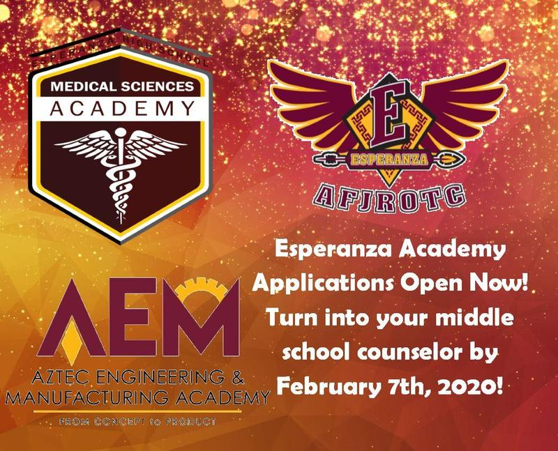 EHS 2020-2021 Academy Applications Now Open! Thumbnail Image