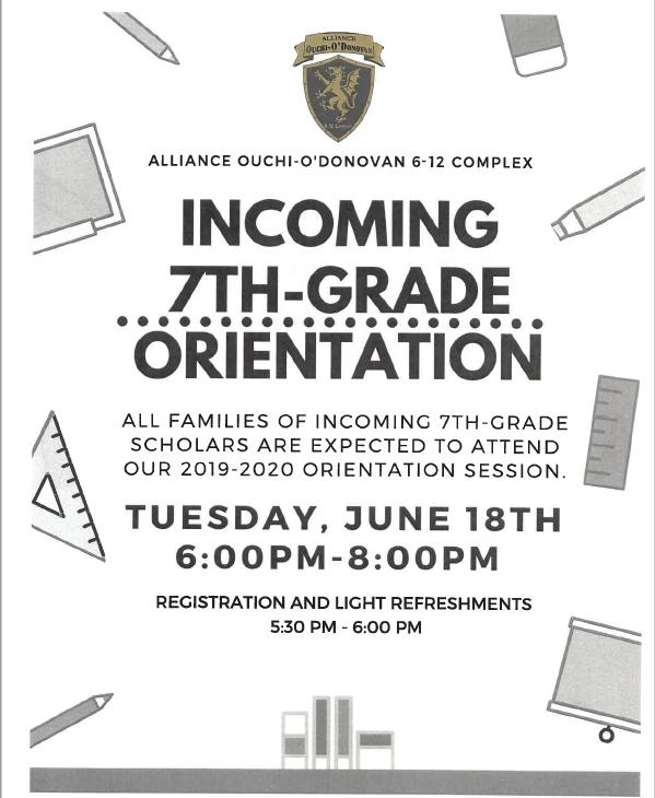 Incoming 7th Grade Orientations/Orientaciones entrantes de 7º grado Thumbnail Image