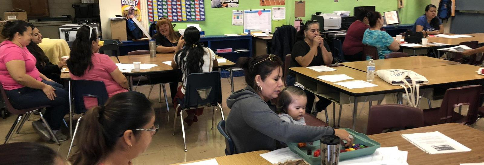 English Learner Advisory Committee - Philadelphia's ELAC meeting provides parents the support needed for reviewing reclassification criteria. #ALLmeansAll #proud2bepusd