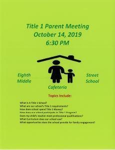 Title One Parent Meeting Featured Photo