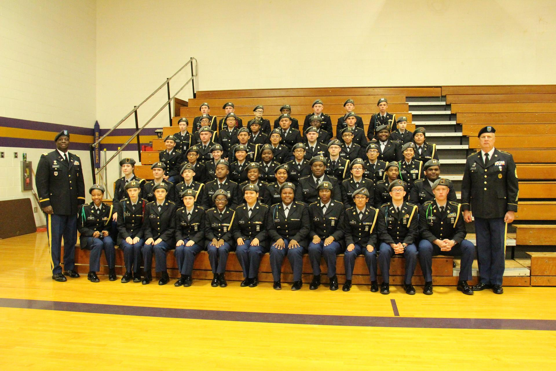 Pictured is the JROTC