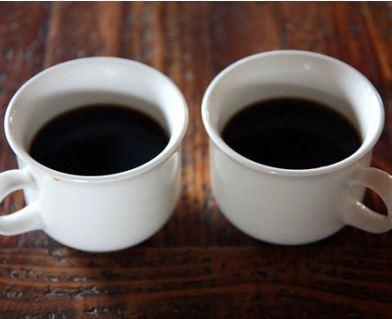 Photo of two cups of coffee.