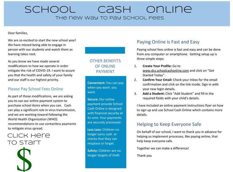school cash online information