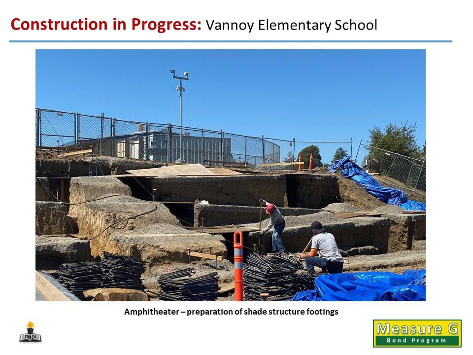 Vannoy ES - Amphitheater - Shade Structure Footings Prep