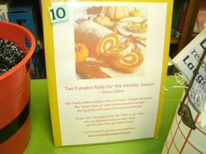 Pumpkin Rolls donated for United Way drawing.