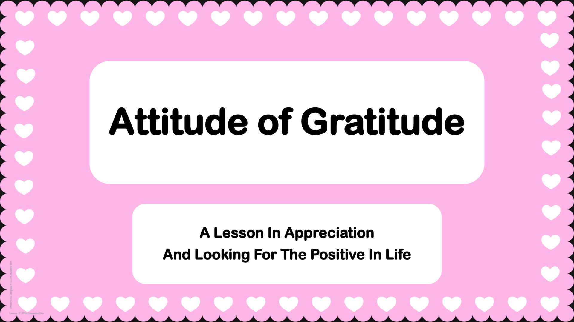 Attitude of Gratitude Cover Slide