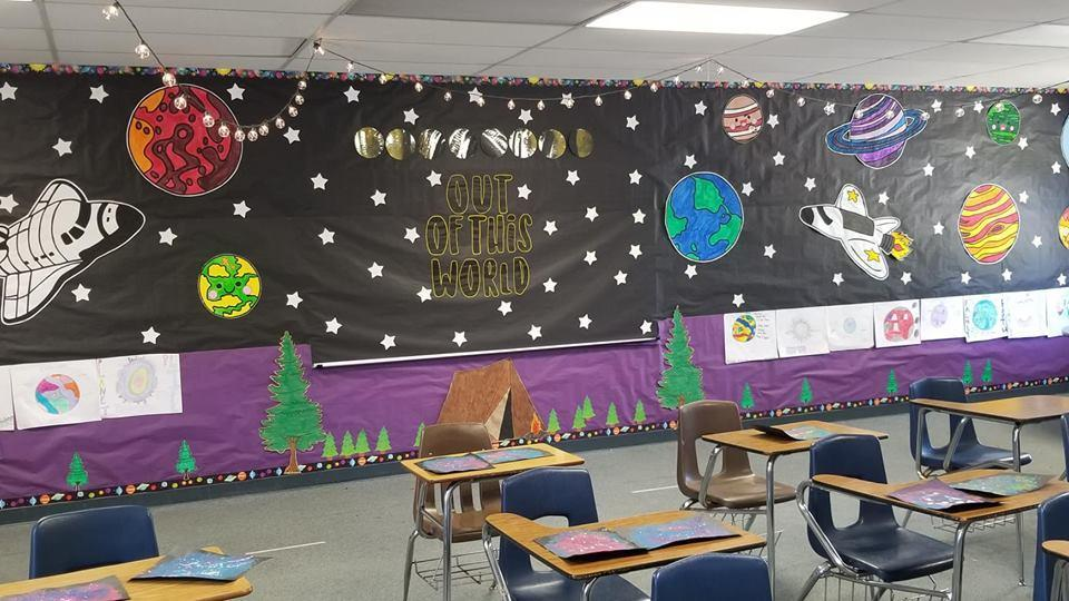 Middle school space decorations