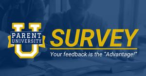 Parent University survey graphic.