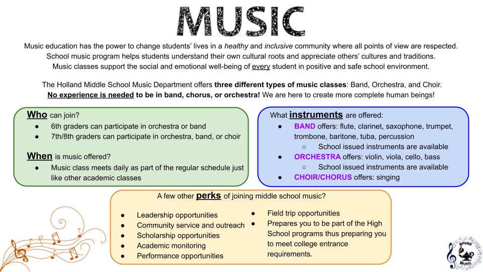Music Department Info