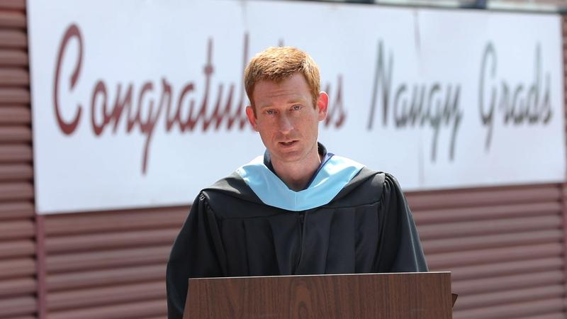 NHS Principal John Harris speaking to graduates