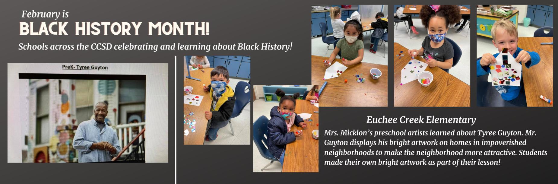 students doing artwork