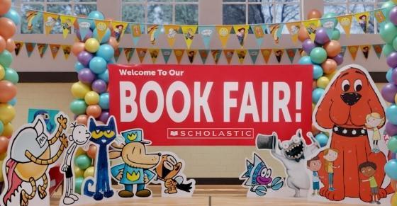 a graphic that says Book Fair