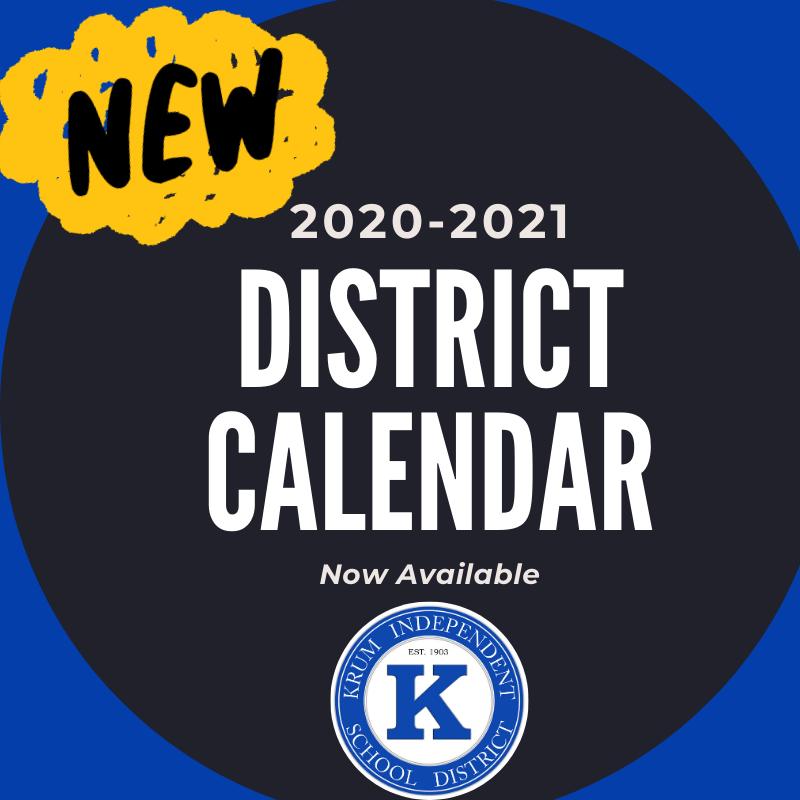 NEW 2020-2021 District Calendar Featured Photo