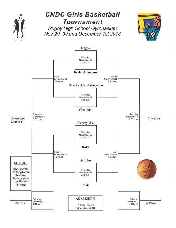 2018-2019 Girls Basketball CNDC Tournament Schedule