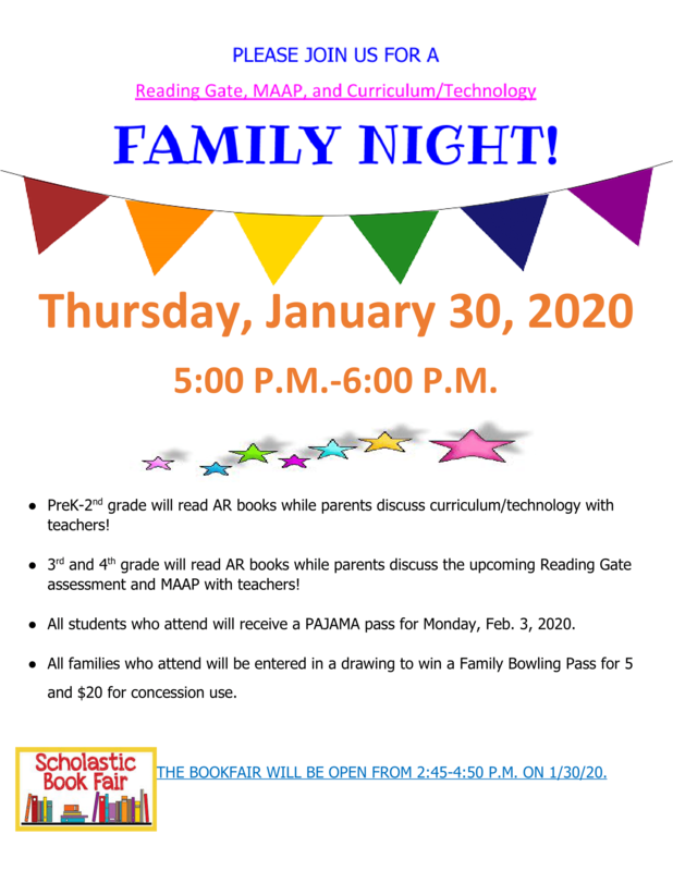 Family Night Thursday 01/30 at EES!