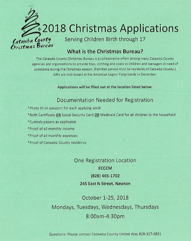 2018 Christmas Bureau Applications Announcement