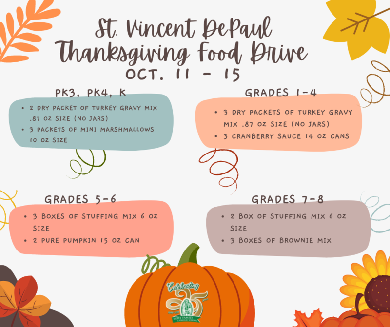 Thanksgiving Food Drive - October 11-15 Featured Photo