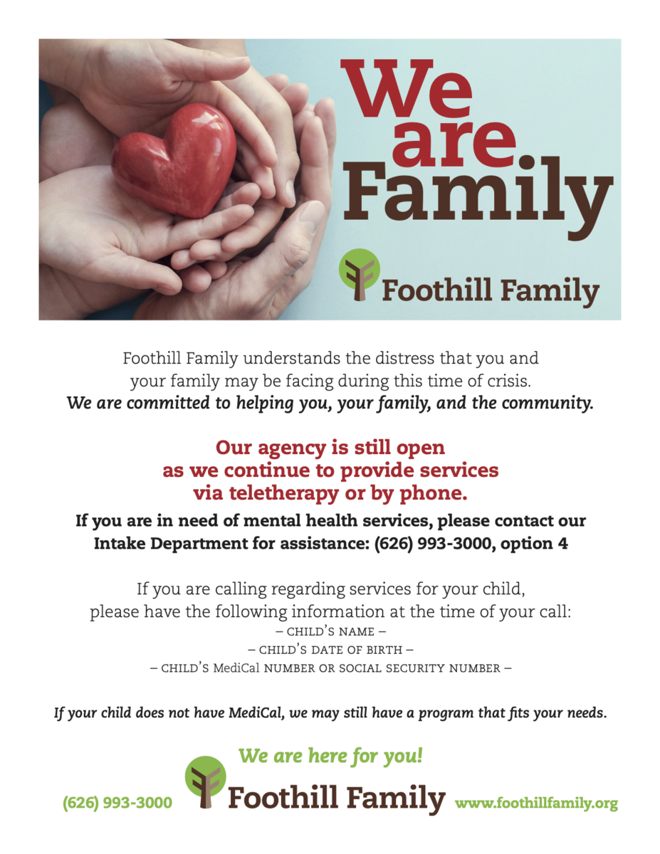 Foothill Family Flyer