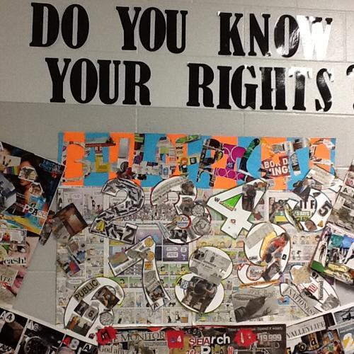 Do you know your rights Anchor Chart