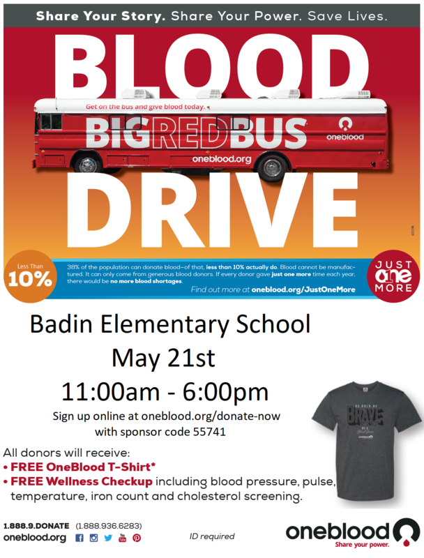Oneblood Blood Drive - May 21st 11:00am-6:00pm Featured Photo