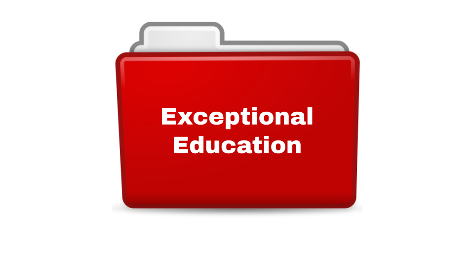 Exceptional Education Folder