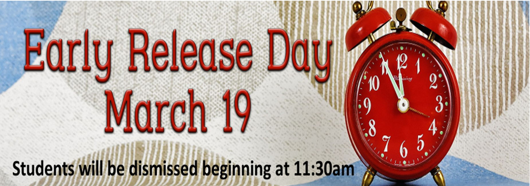 Early Release Day March 19th