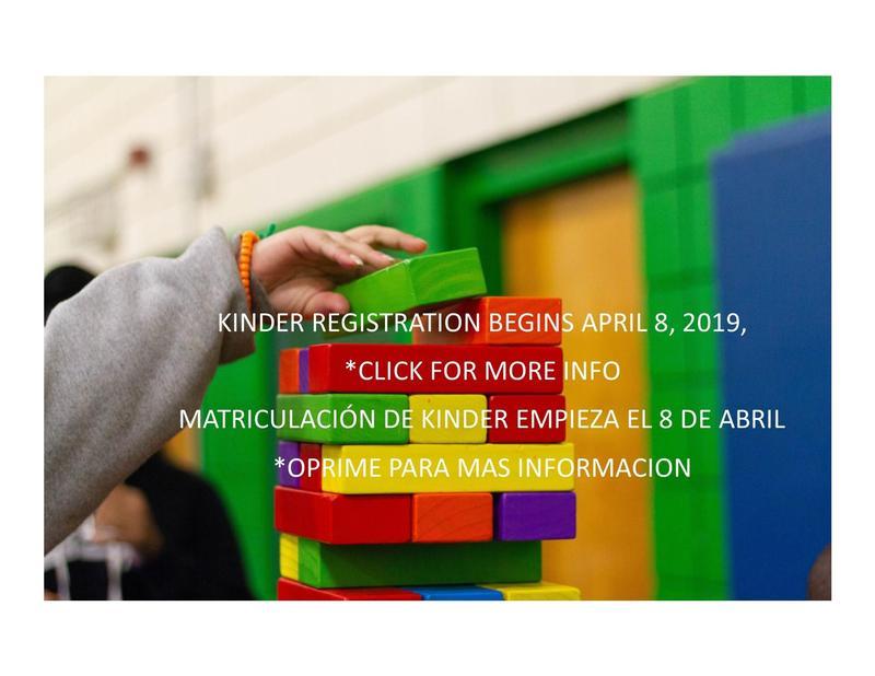 Building blocks with info regarding Kinder registration