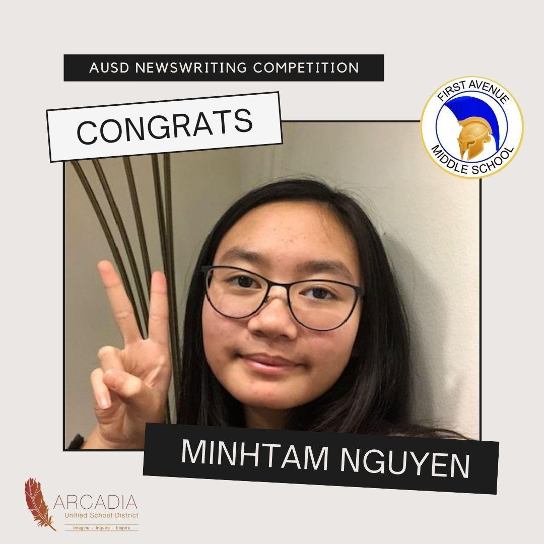 AUSD Middle School Writing Competition Winner Minhtam Nguyen