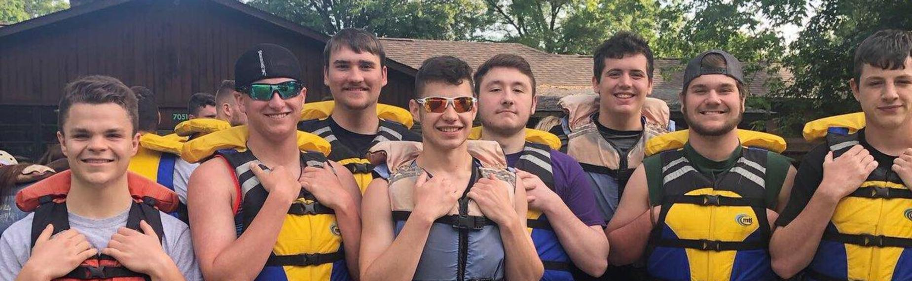 Seniors White Water Rafting