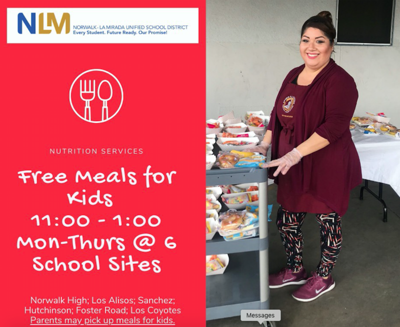 Free Meals for All District Students at Sanchez Featured Photo