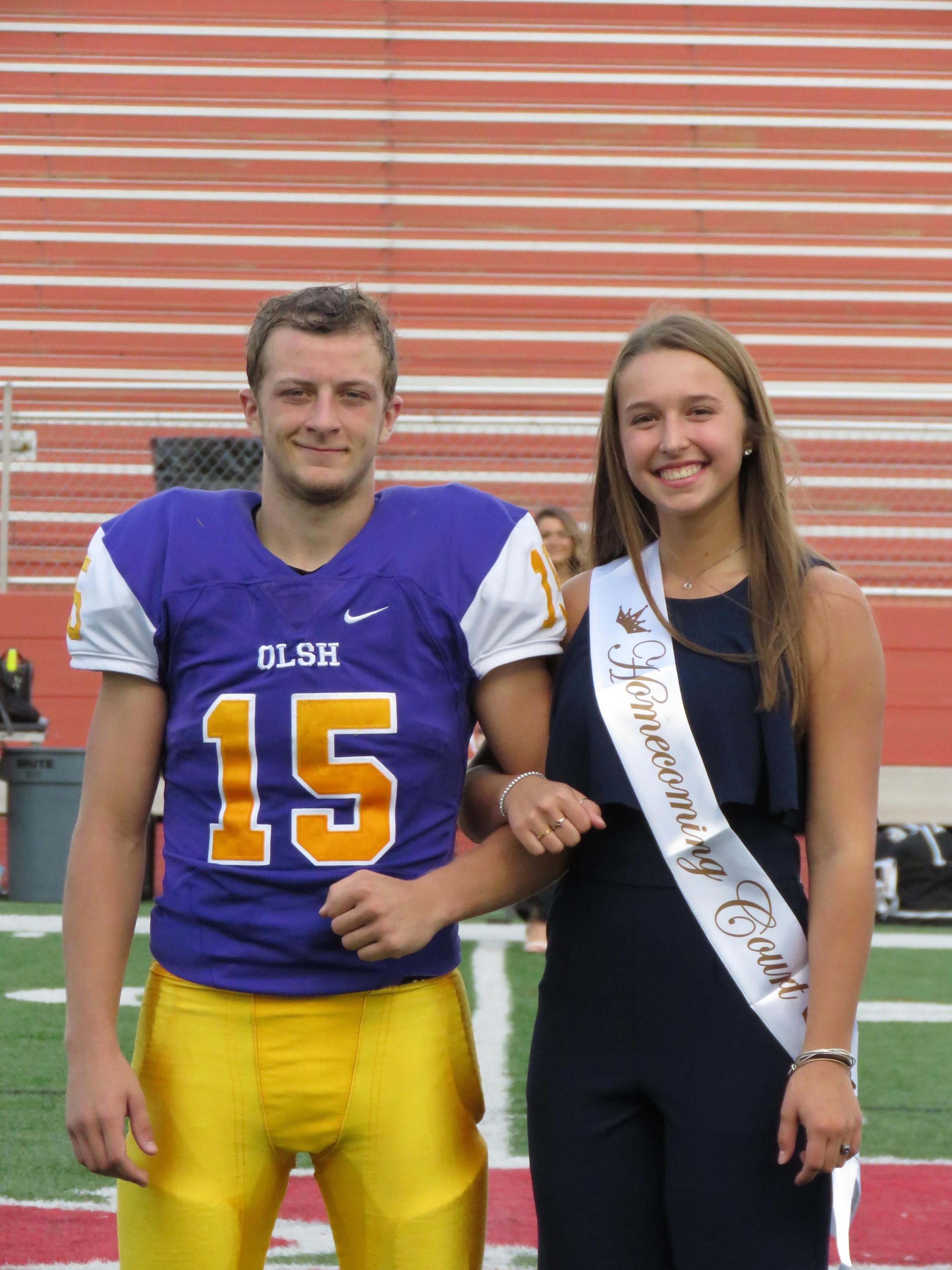 Luke was on the 2018 homecoming court and escorted fellow senior Lucy on the field.