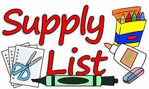 2021-2022 School Supplies List Thumbnail Image