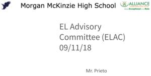 EL Advisory Committee