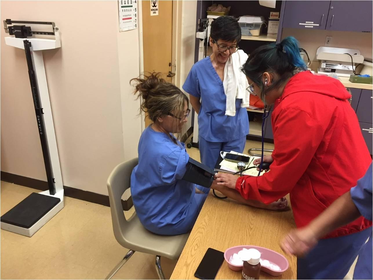 MA Students practice Blood Pressure techniques