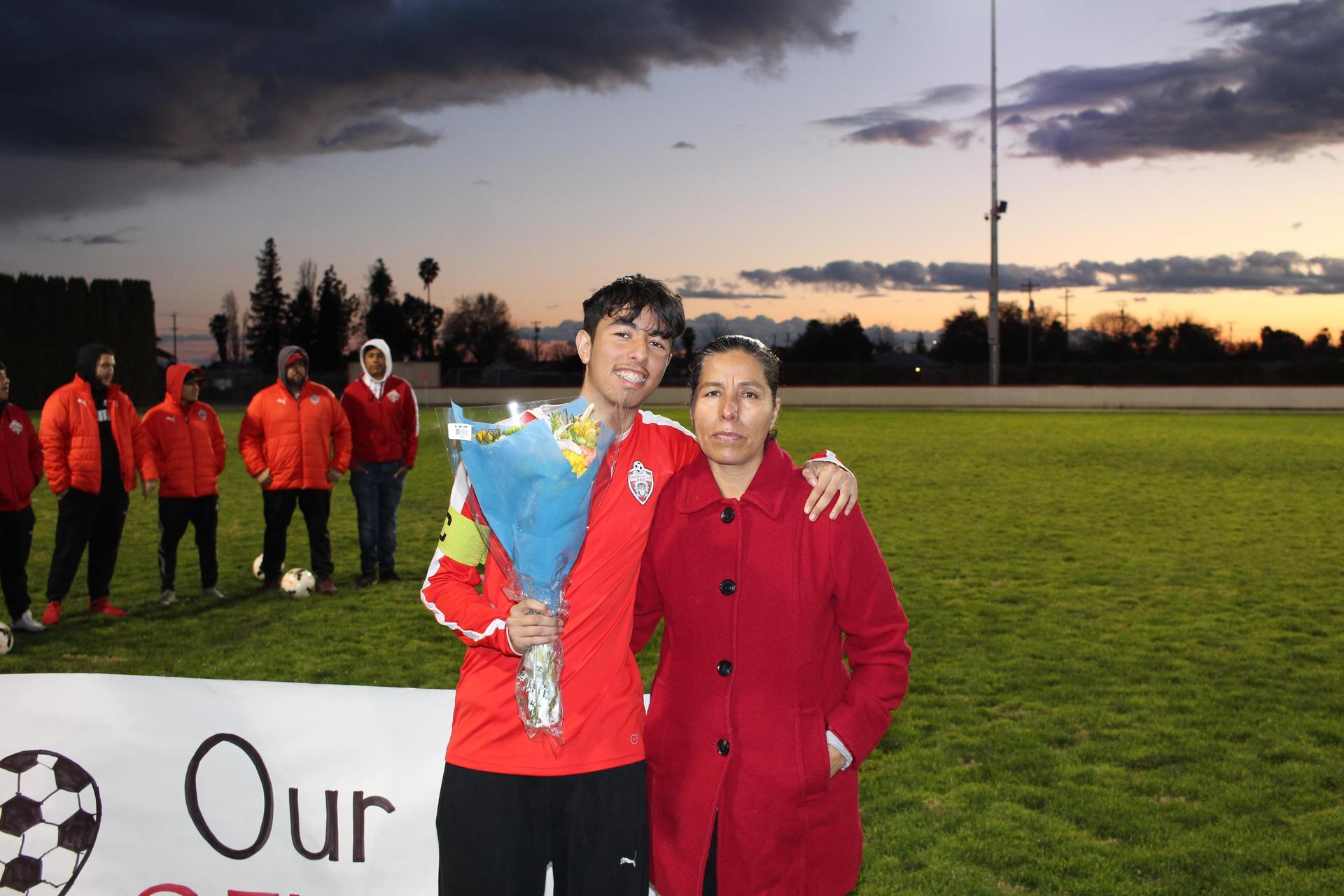 Adan Caballero at Soccer Senior Night
