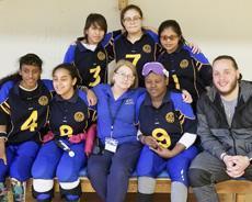 Girls Goalball team at the EAAB Tournament